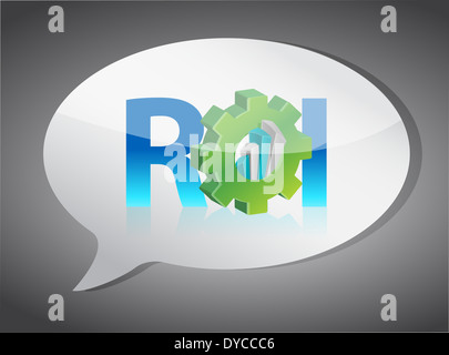 roi speech bubble illustration design over white - Stock Photo