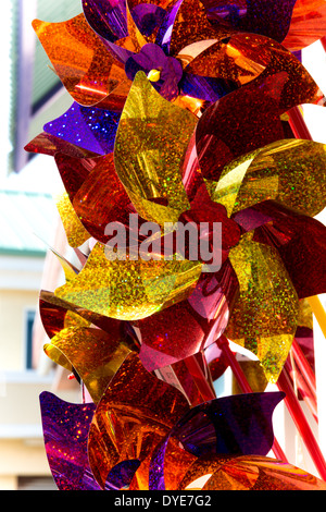 Sparkling Colorful Plastic Pinwheels on Display - Stock Photo