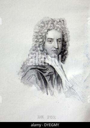 Daniel Defoe (1660 – 1731 A.D.) - Stock Photo