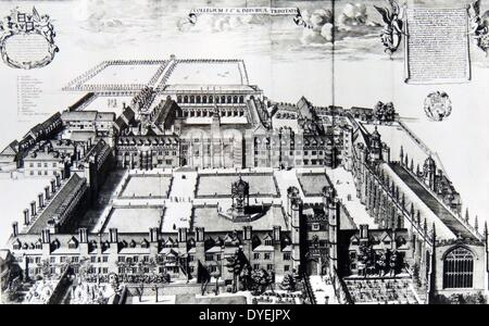 Trinity College in the Town and University of Cambridge - Stock Photo