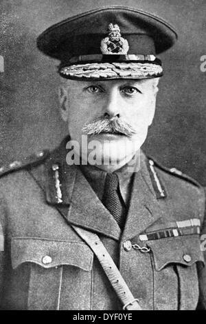 Portrait photograph of Field Marshal Douglas Haig, 1st Earl Haig of Bemersyde. - Stock Photo
