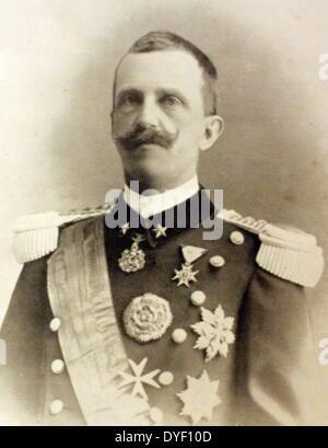 Photograph portrait of Victor Emmanuel III, King of Italy - Stock Photo