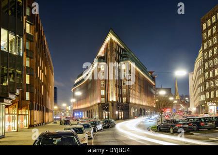 Chilehaus im Kontorhausviertel in der Altstadt von Hamburg, Deutschland, Europa - Stock Photo