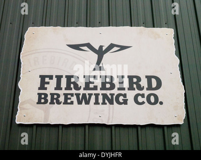 Firebird Brewing Company signboard, Rudgwick, West Sussex. - Stock Photo