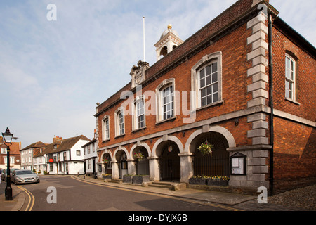 UK, England, East Sussex, Rye, Market Street, Town Hall - Stock Photo