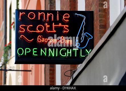 London, England, UK. Ronnie Scott's jazz club in Soho - Stock Photo