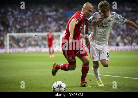 Madrid, Spain. 23rd Apr, 2014. Robben during the UEFA Champions League semi final match between Real Madrid and - Stock Photo