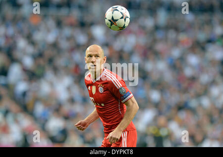Madrid, Spain. 23rd Apr, 2014. Munich's Arjen Robben in action during the UEFA Champions League semi final first - Stock Photo