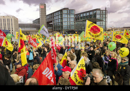 Anti-nuclear demonstration - Stock Photo