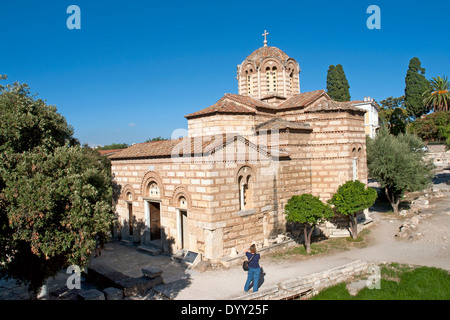 Church of the Holy Apostles, in the Agora, Athens, Greece. Also known as Holy Apostles of Solaki. - Stock Photo