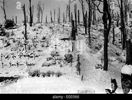 Cemetery of German soldiers in the Vosges mountains from the First World War - Stock Photo
