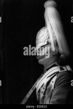 A soldier of the 'Household Cavalry Mounted Regiment' in London, 1967 - Stock Photo