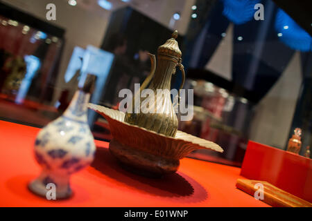 Bonn, Germany. 29th Apr, 2014. A Turkish washing basin and a jug from the 18th/19th century are displayed in the - Stock Photo