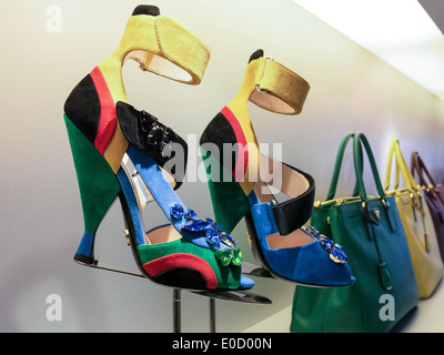 Prada Store in SoHo, NYC, USA - Stock Photo