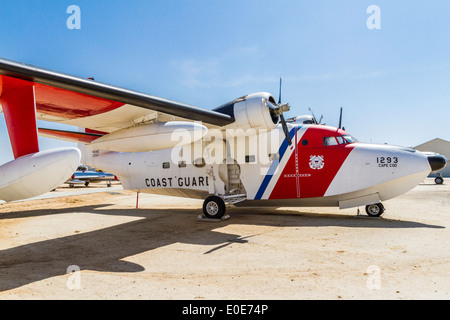 Grumman HU-16E Albatross at the March Field Air Museum in Riverside California - Stock Photo