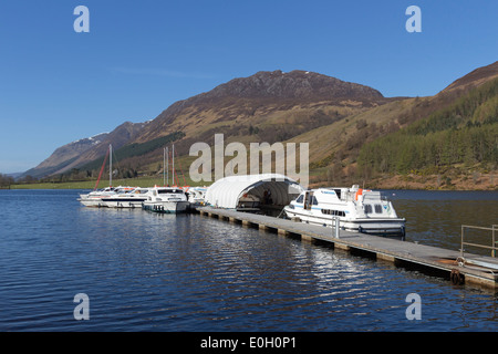 Hire Boats on Loch Lochy, Laggan, Highlands of Scotland - Stock Photo