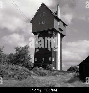 1950s, historical picture of the water tower at Thorpeness, Suffolk, England. Built in 1923 to receive water from - Stock Photo