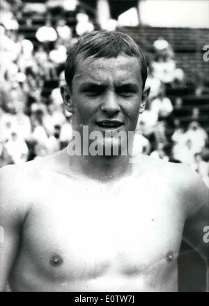 Aug. 08, 1960 - Preparing for Olympic Games in Rome : During the German Swimming Championships 1960 in Berlin, Hans - Stock Photo