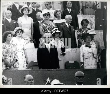 Aug. 08, 1960 - Opening of the Olympic games in Rome. President Gronchi makes opening speech.: Photo shows President - Stock Photo