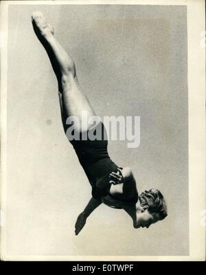 Aug. 08, 1960 - Olympic Games In Rome. Photo shows A fine action study of I. Kramer, of Germany, who is competing - Stock Photo