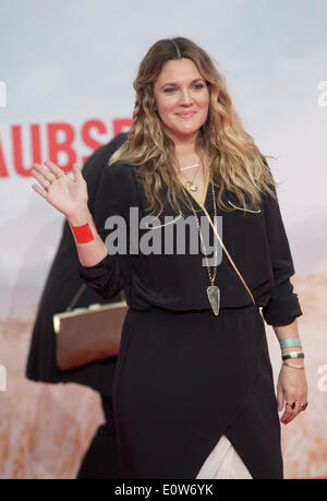 Berlin, Germany. 19th May, 2014. US actress Drew Barrymore arrives for the world premiere of the movie 'Blended' - Stock Photo