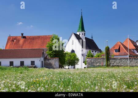 Heiligkreuztal Abbey, near Riedlingen, Upper Swabia, Baden-Württemberg, Germany - Stock Photo