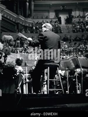 Oct. 10, 1962 - The Sit-Down Band Conductor's Triumph: A sick man left his bed on Saturday to help 25 men win the - Stock Photo