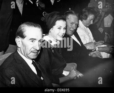 Princess Grace Kelly at the Cannes Film Festival with Charles Bohen - Stock Photo
