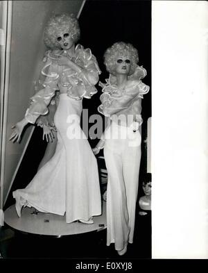 Feb. 02, 1968 - Fibreglass models with internationally known faces. On show at the ''Display Market week''. Fibreglass - Stock Photo