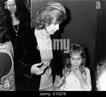 Actress Joanne Woodward at ballet premiere - Stock Photo