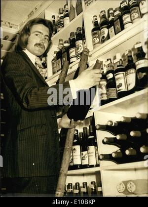 Mar. 07, 1972 - It's not impossible to find a Frenchman who sells whiskey in London, but the French public finds - Stock Photo