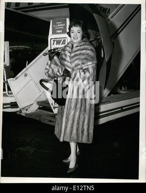 Feb. 24, 2012 - Idlewild Airport, N.Y., Dec. 9 - Popular Singing Star Gisele Mac Kenzie Brightens The New York Scene - Stock Photo
