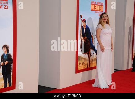 Los Angeles, CA, USA. 21st May, 2014. Drew Barrymore at arrivals for BLENDED Premiere, TCL Chinese 6 Theatres (formerly - Stock Photo