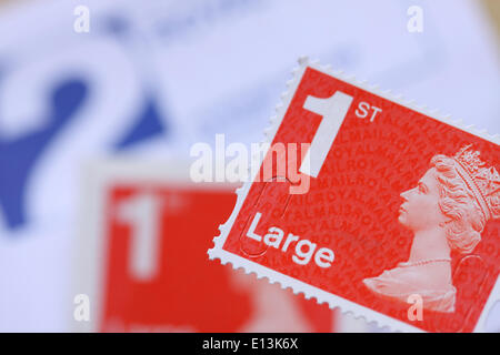 Royal Mail 1st first class Large stamp - Stock Photo