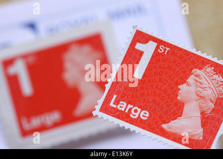 Royal Mail large 1st class postage stamp UK - Stock Photo