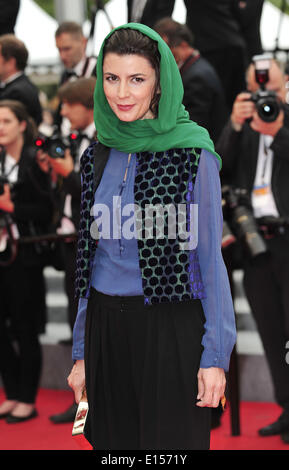 Cannes, France. 22nd May, 2014. Jury member, Iranian actress Leila Hatami arrives for the screening of 'Jimmy's - Stock Photo