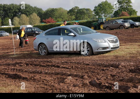 Exeter, Devon, UK. 23rd May, 2014. Devon County Show cancelled because of safety concerns due to heavy rain. The - Stock Photo