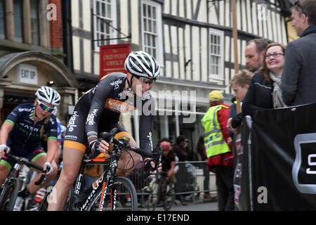 Twenty years ago, Shrewsbury hosted a cycle race that took place around its picturesque town centre. On Sunday May - Stock Photo