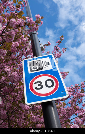 Traffic Speed Control Sign - Stock Photo