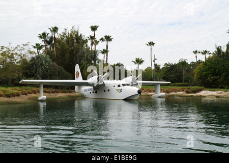 A Grumman Flying Boat with Royal Pacific Airways markings at Universal Studios Orlando - Stock Photo
