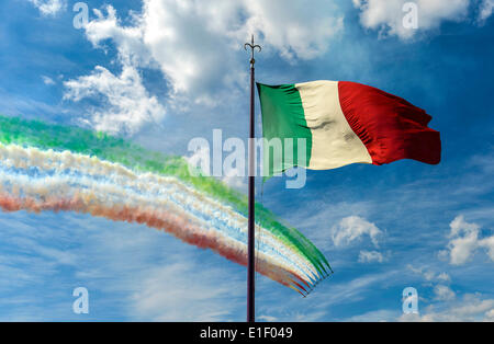 Trieste, Italy. 2nd June 2014. Trieste Tricolour Arrows during Tour of Italy cycling Credit:  Realy Easy Star/Alamy - Stock Photo