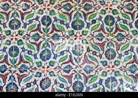 Tiled wall in turkish style - Stock Photo