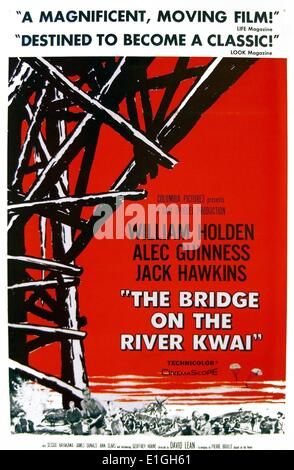 'The Bridge On The River Kwai' a 1957 British World War II film starring William Holden, Alec Guinness and Jack - Stock Photo