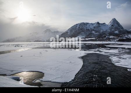 Landscape, Lofoten, Norway - Stock Photo
