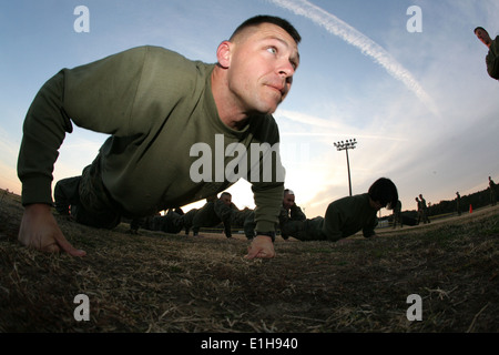 Gunnery Sgt. Thomas J. Korabik, a native of Milwaukee, Wis., and training chief at Marine Corps Security Cooperation - Stock Photo