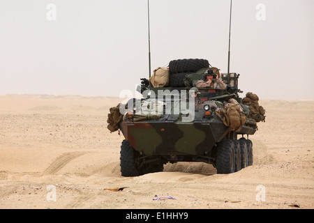 U.S. Marines with Weapons Company, Battalion Landing Team, 3rd Battalion, 5th Marine Regiment, 15th Marine Expeditionary - Stock Photo