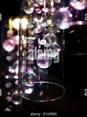 Abstract festive christmas lights as a background - Stock Photo