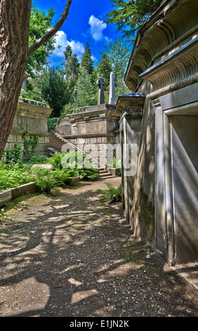 Highgate Cemetery London - Stock Photo