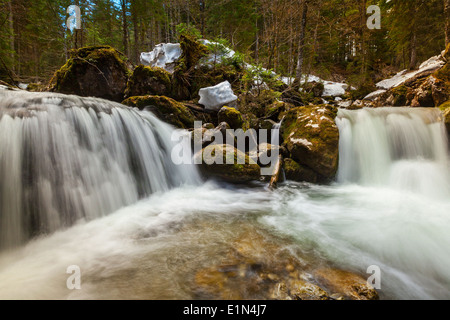 Cascade of Sibli-Wasserfall. Rottach-Egern, Bavaria, Germany - Stock Photo