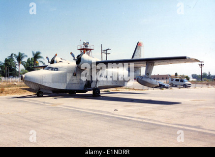 Grumman HU-16E, N7029F, Ramona CA, Aug93 - Stock Photo